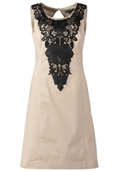 Comma Cocktail Dress Party Dress Beige