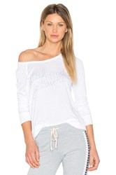 Sundry Weekend Crop Pullover White