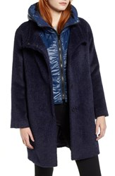 Trina Turk Coat With Hooded Bib Navy