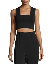 A.L.C. Ali Stretch Racerback Crop Top Black