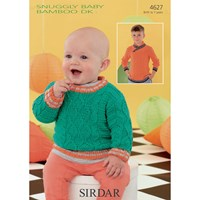 Sirdar Snuggly Baby Children's Jumpers Knitting Pattern 4627