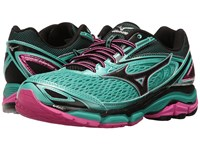 Mizuno Wave Inspire 13 Turquoise Electric Black Women's Running Shoes Green