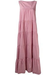 P.A.R.O.S.H. Pleated Maxi Dress Red