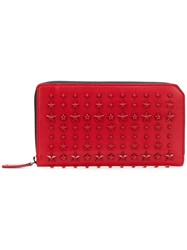 Jimmy Choo Carnaby Wallet Men Cotton Leather One Size Red