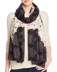 Yarnz Chinese Checkers Scarf Black