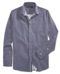 Sean John Men's Spliced Shirt Navy