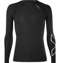 2Xu Compression Stretch Jersey T Shirt Black