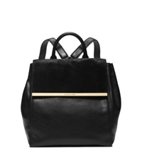 Michael Kors Lana Hair Calf And Embossed Leather Backpack Black