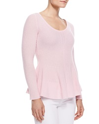 Neiman Marcus Peplum Cashmere Sweater Medium 8