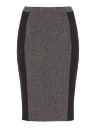 Linea Textured Block Skirt Grey