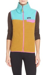 Patagonia Women's 'Snap T' Fleece Vest Howling Turquoise