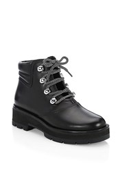 3.1 Phillip Lim Dylan Leather Lace Up Hiking Boots Black