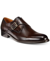 Tasso Elba Men's Lucca Single Monk Loafers Only At Macy's Men's Shoes Brown