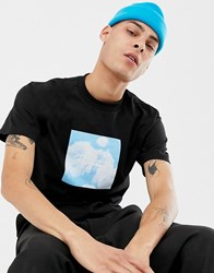 Primitive T Shirt With Blue Rose Box Logo In Black