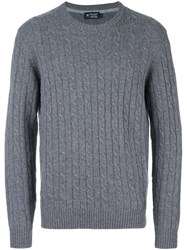Hackett Cable Knit Jumper Grey