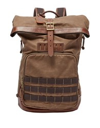 Fossil Defender Waxed Backpack Brown