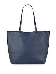 Saks Fifth Avenue Leather Tote Navy