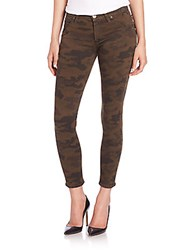 Hudson Lily Mid Rise Camo Print Skinny Ankle Jeans Combat Camo
