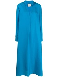 Alysi Tunic Shirt Dress Blue