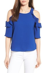 Gibson Women's Cold Shoulder Top Royal