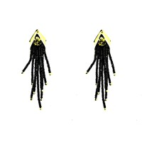 Begada Chic Earrings Peridot And Black
