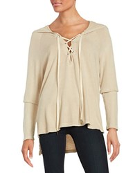 Project Social T Lace Up Hoodie Sand
