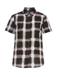 Marc By Marc Jacobs Blurred Gingham Print Shirt