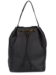 The Row Drawstring Backpack Black