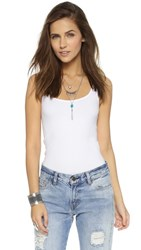 Free People Seamless Scoop Tank White