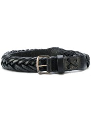Golden Goose Deluxe Brand Classic Woven Belt Leather Black
