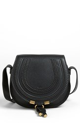 Chloe Chloe 'Marcie Small' Leather Crossbody Bag Black Black Gold Hrdwre
