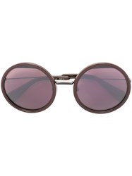 Yohji Yamamoto Round Shaped Sunglasses Pink And Purple