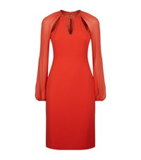 Jenny Packham Embellished Cut Out Dress Female Red