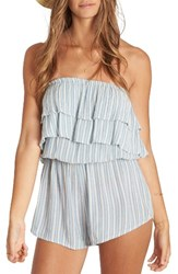 Billabong Women's Ruffled Up Strapless Romper