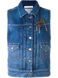 Golden Goose Deluxe Brand Denim Gilet Blue