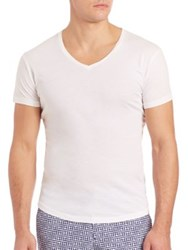 Orlebar Brown V Neck Shirt White