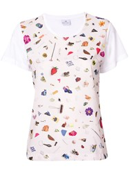 Paul Smith Ps By Scattered Conversational Printed T Shirt White