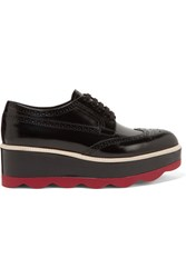 Prada Leather Platform Brogues Black