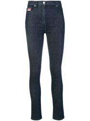 Kenzo Tiger Embroidered Skinny Jeans Blue