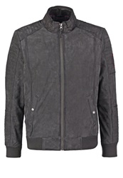 Tom Tailor Leather Jacket Grey Green