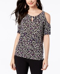 Thalia Sodi Embellished Cutout Top Created For Macy's Desert Petal