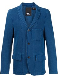 Denham Jeans Triple Button Blazer Blue