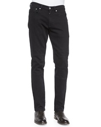 Belstaff Harpton Raw Stretch Moto Jeans Black