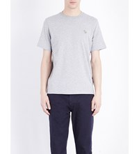 Paul Smith Ps By Zebra Cotton Jersey T Shirt Grey