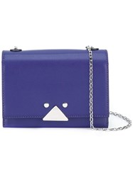 Emporio Armani Flap Crossbody Bag Pink Purple