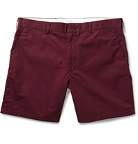 Club Monaco Baxter Cotton Twill Shorts Burgundy