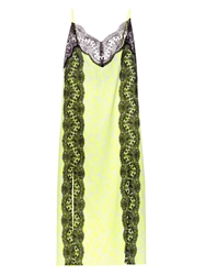 Christopher Kane Lace Panel Floral Print Dress