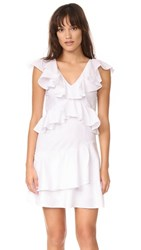 Mlm Label Charm Poplin Ruffle Dress White