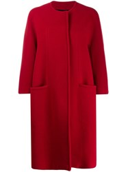 Gianluca Capannolo Collarless Cocoon Coat 60