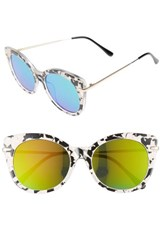 Women's Bp. Kitty 52Mm Mirrored Cat Eye Sunglasses